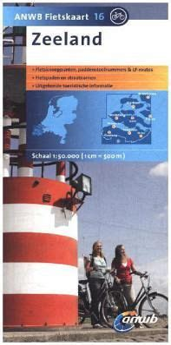 radwanderkarte 16 zeeland 1 50 000 anwb fietskaart 16