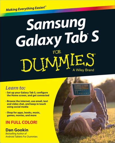 samsung galaxy tab 4 nook for dummies for dummies series