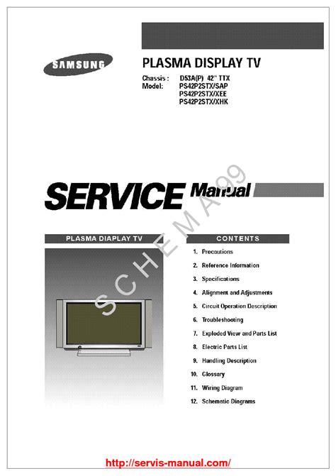 Samsung Sp42w5hf1x Xee Tv Service Manual EBook - 15 ...