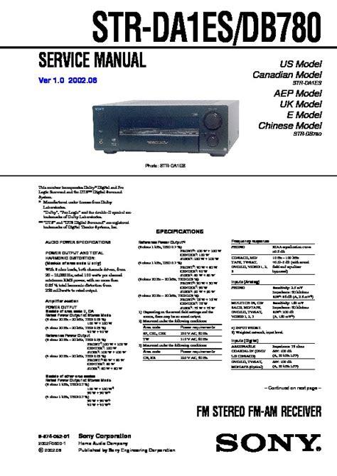 Sony Svt1313z9es Repair Service Manual User EBook - 1.kaymar.net