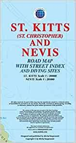 st kitts st christopher and nevis road map 1 30k 20k