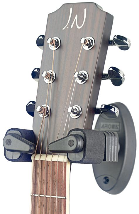 stagg guitar wall hanger with lock system para guitarra