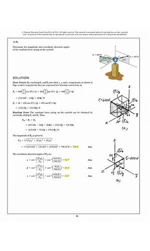 Ebook Statics Mechanics Materials 3rd Edition Solutions Manual Ebook Library