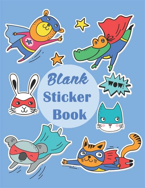 sticker albums for boys blank permanent sticker book