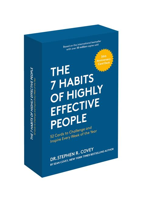 the 7 habits of highly effective people 30th anniversary card deck