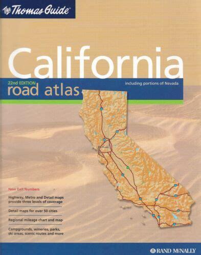 thomas guide california road atlas including portions of nevada spiral