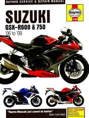 Title Suzuki Gsx R600 And 750 Service And Repair Manual 2006 To 2009 Haynes Service And Repair Manuals
