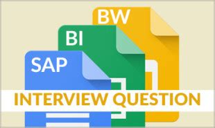 Top Sap Bi Bw Interview Questions And Answers For 2019 - PDF