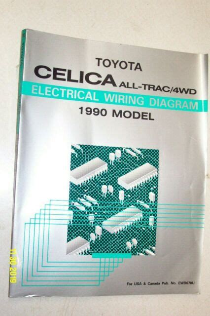 Toyota 1988 Celica Includes All Trac4wd Electrical Wiring Diagram