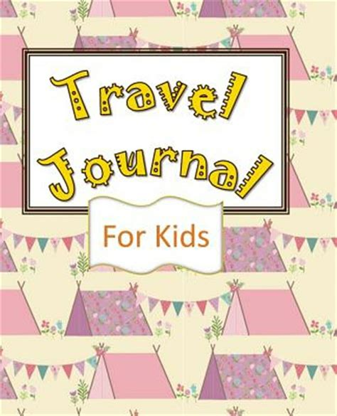 travel journal for kids vacation planner memory book and kids journal write draw small travel journal pink summer flowers