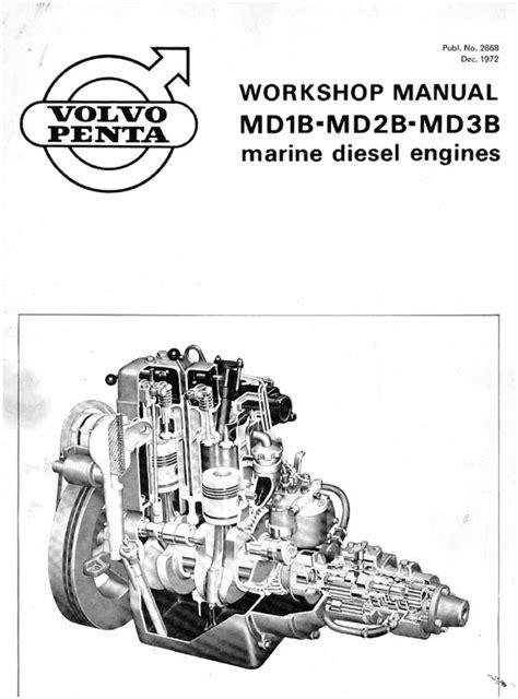volvo penta md1b 2b 3b workshop service manual
