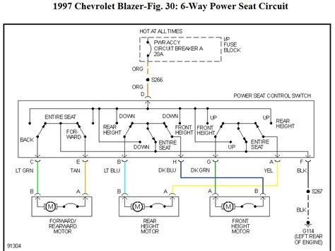 Wiring Diagram 6 Way Power Seat